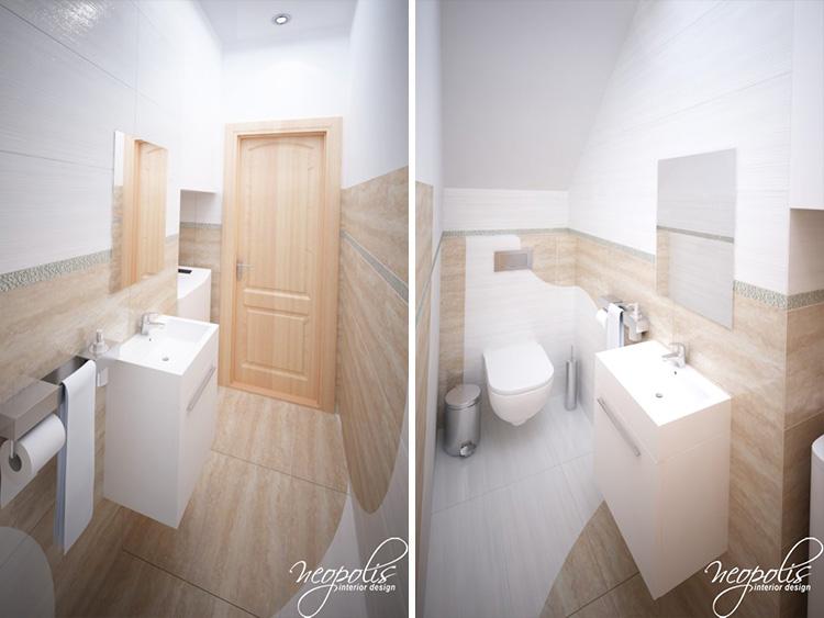 3D vizualizácia kúpeľne