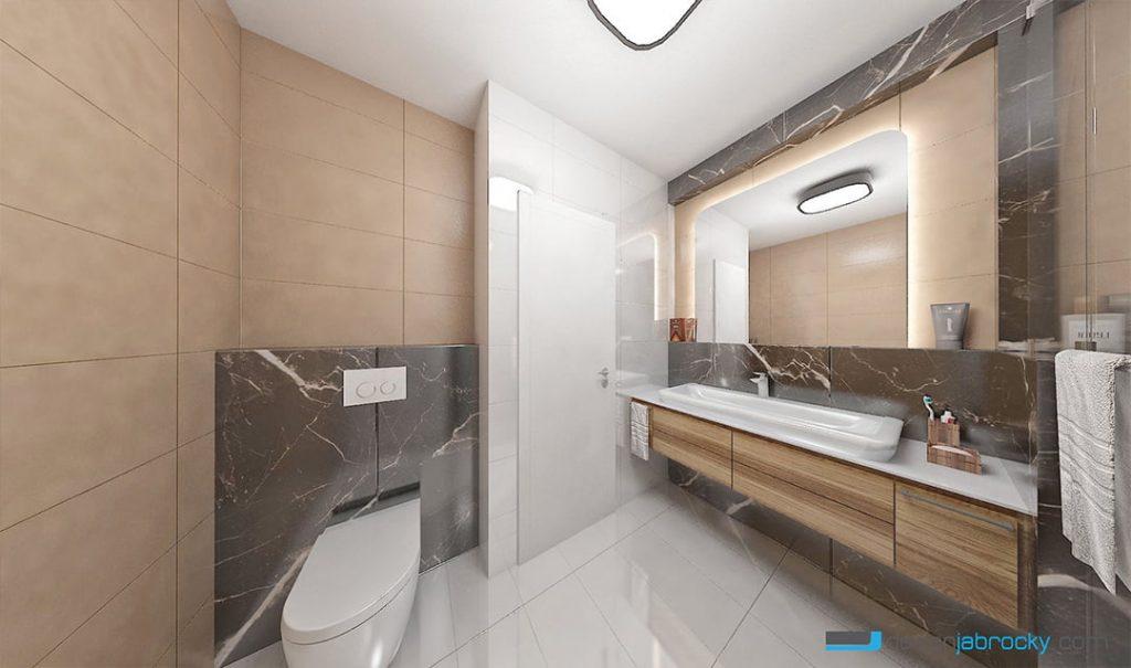 3D návrh vizualizácia kúpeľne